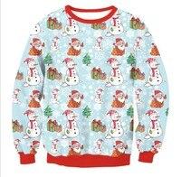 Autumn And Winter Kawaii Women Santa Xmas Christmas Novelty Fairisle Vintage Jumper Sweater