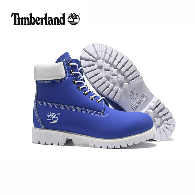 online retailer a3522 5e215 TIMBERLAND Men 10061 Sky Blue White Male Motorcycle Martin Ankle Army  Boots,Men s Outdoor Leather Street Casual Shoes 40-45