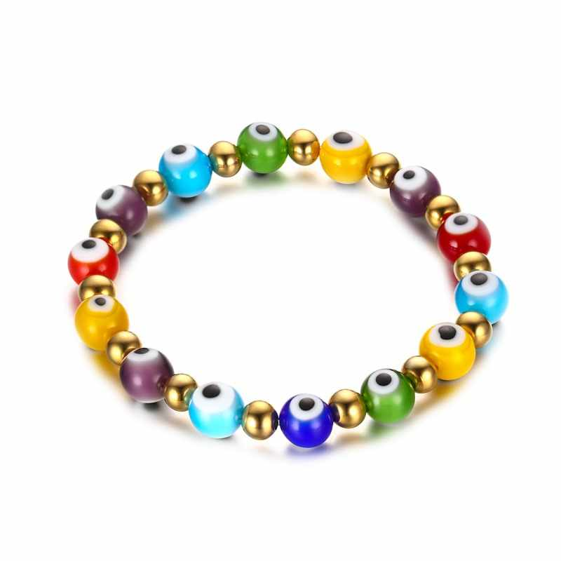 Turkish Evil Bracelet Simple Charm Bracelet Beads Party pulseira masculina Eyes Jewelry
