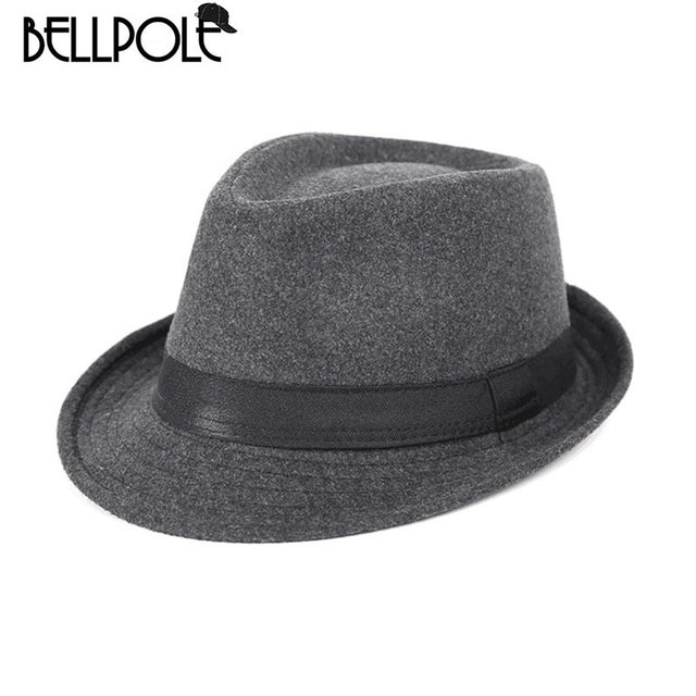 Chapeau Homme Cappello Fedora Hat Men Wool Felt Hats Simple Stylish Top For  Solid High Quality Chapeau Sombreros Hombre Homme d5735eb6482