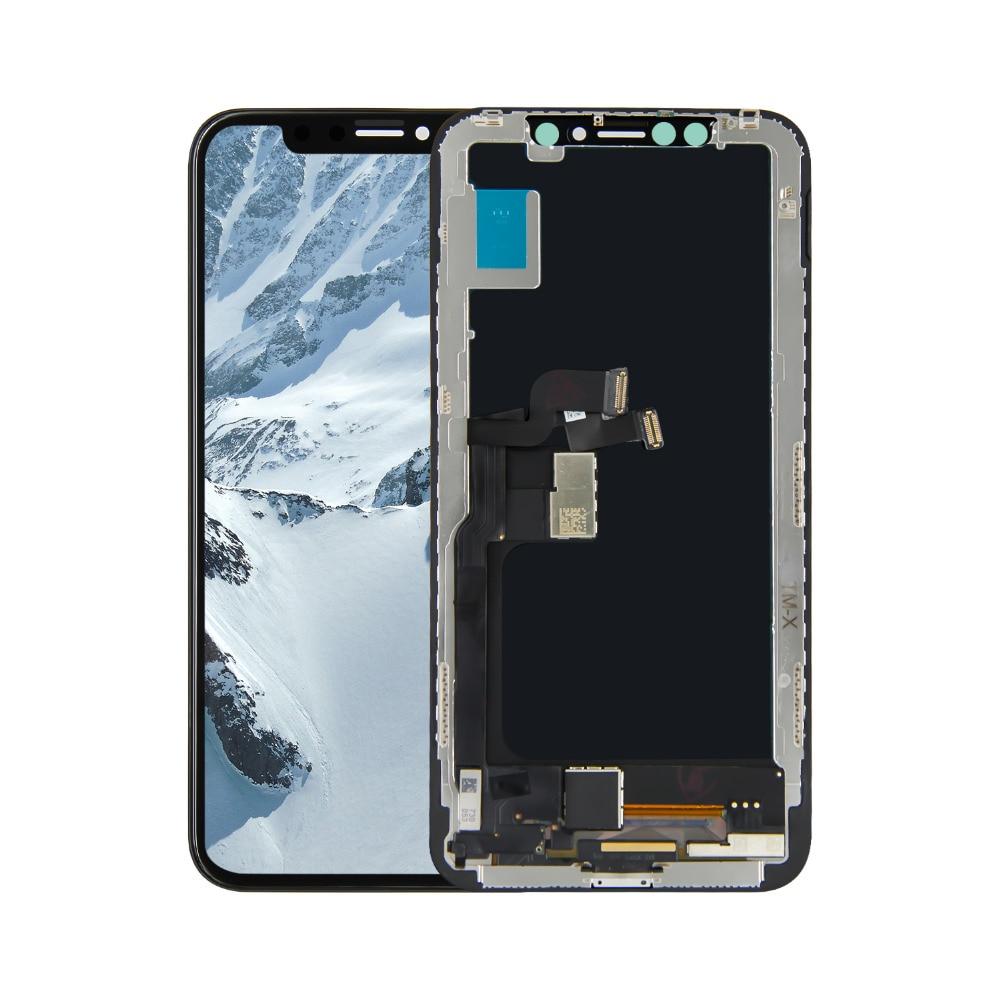 Pour iPhone X LCD écran tactile numériseur verre assemblage remplacement + outils gratuits