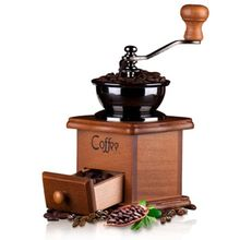 Classical Wooden Mini Manual Bean Coffee Grinder Hand Crank Stainless Steel Retro Spice Burr Mill Grinding Machine все цены