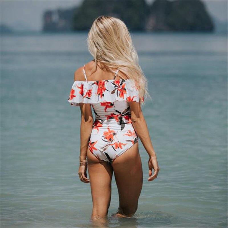 Նոր սեքս Off The Shoulder Solid Լողազգեստ - Սպորտային հագուստ և աքսեսուարներ - Լուսանկար 4