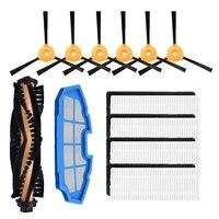 Seite pinsel Hepa-filter Rolle Pinsel Kit für Ecovacs CEN360 DEEBOT N79S N79 & Conga & Exzellenz 990 iboto aqua v710 Pinsel abdeckung