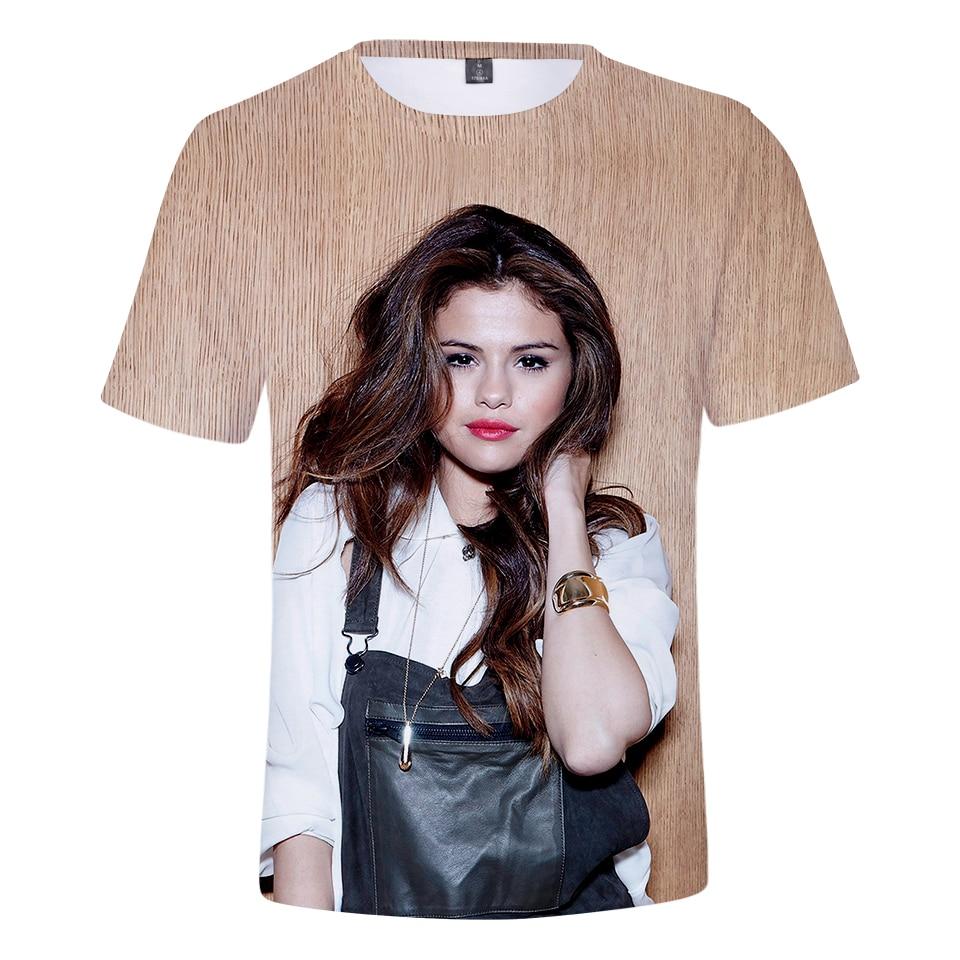 2019 Hot Selena Gomez 3d T Shirts Short Sleeve Fashion Harajuku Hip Hop Selena Gomez Casual Summer 3d T Shirts Xxs 4xl