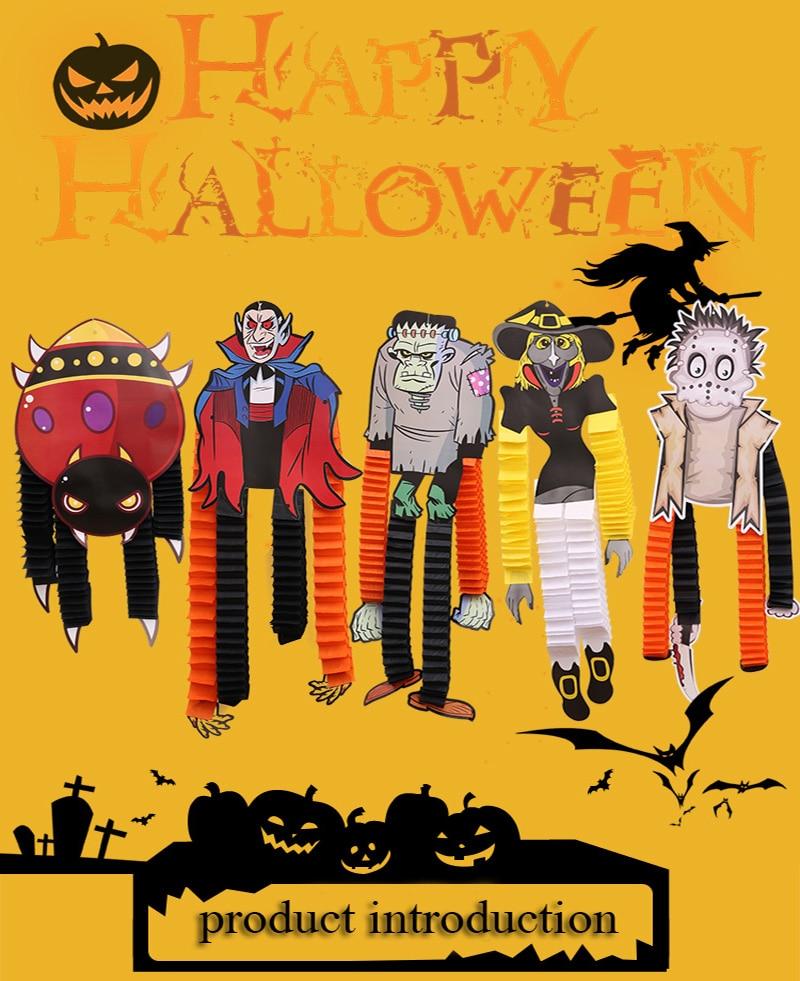 Zilue 1 шт. Хэллоуин выставка декораций реквизит Скелет Вампира бумага висячие вечерние принадлежности для представления украшение для ночных клубов