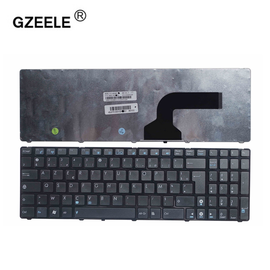 GZEELE NEW French For Asus G72 X53 X54H K53 A53 A52J K52N G53 N53T N61 K53E X52 X52F X52J X55 X55A K73 FR Laptop Keyboard AZERTY