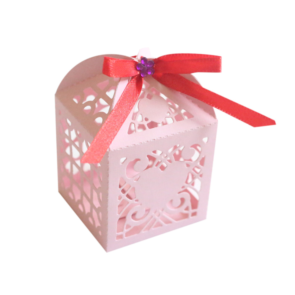 Rustic Wedding Favor Boxes 20pcs Laser Engraving Paper Gift Box ...