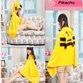 Boys Girls Cosplay Costume Totoro Pikachu Pokemon Peluche Cape Lovely Plush Soft Cloak Scarves Shawl Air Blanket Robe 07163016