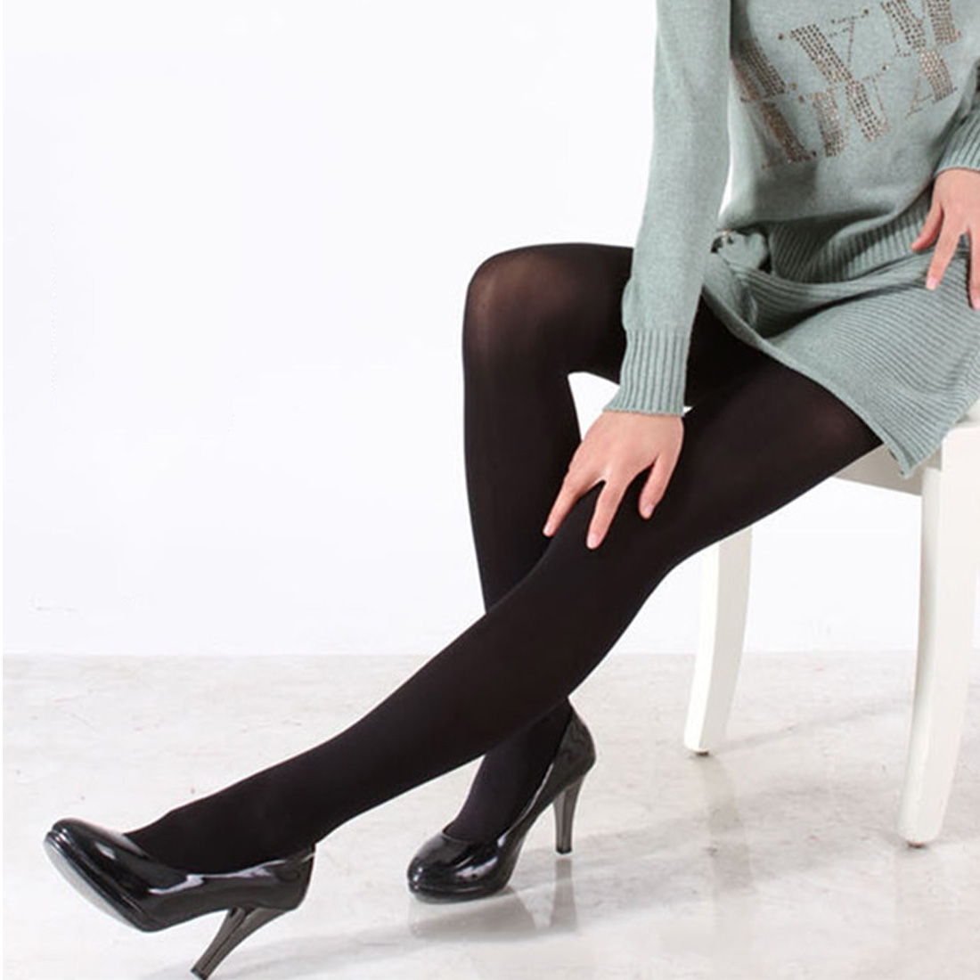 Woman 120D Pantyhose Warm Tights Black Color Plus Size Multicolour Tights Women Pantyhose New 2019