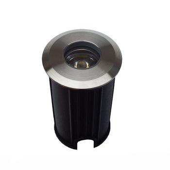 IP67 Waterproof AC220V 110V 12V 1W LED Underground Light Inground Lamp Buried Lighting LED Outdoor Recessed Floor Ground Lamp