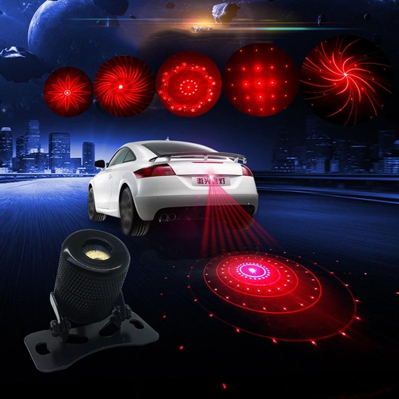 WMMWMD auto nebel licht laser Brems Parkplatz Licht auto schwanz sicherheit Anti Kollision Dekorative lichter schwarz Gehäuse Auto Bremse Warnung