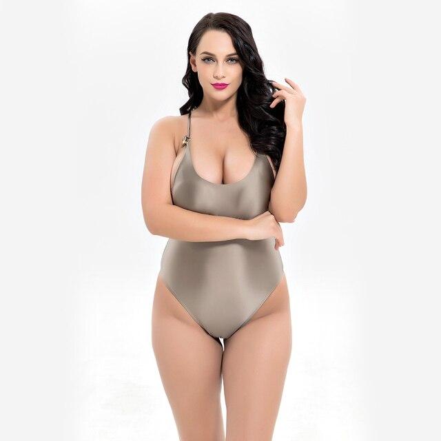 Aliexpresscom Buy Plus Size One Piece Swimsuit Solid Swimwear