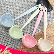 1PC Creative Multifunctional Soup Spoon & Colander Filter Long Handle Special Design 2 in 1 Kitchen Accessories Gadgets