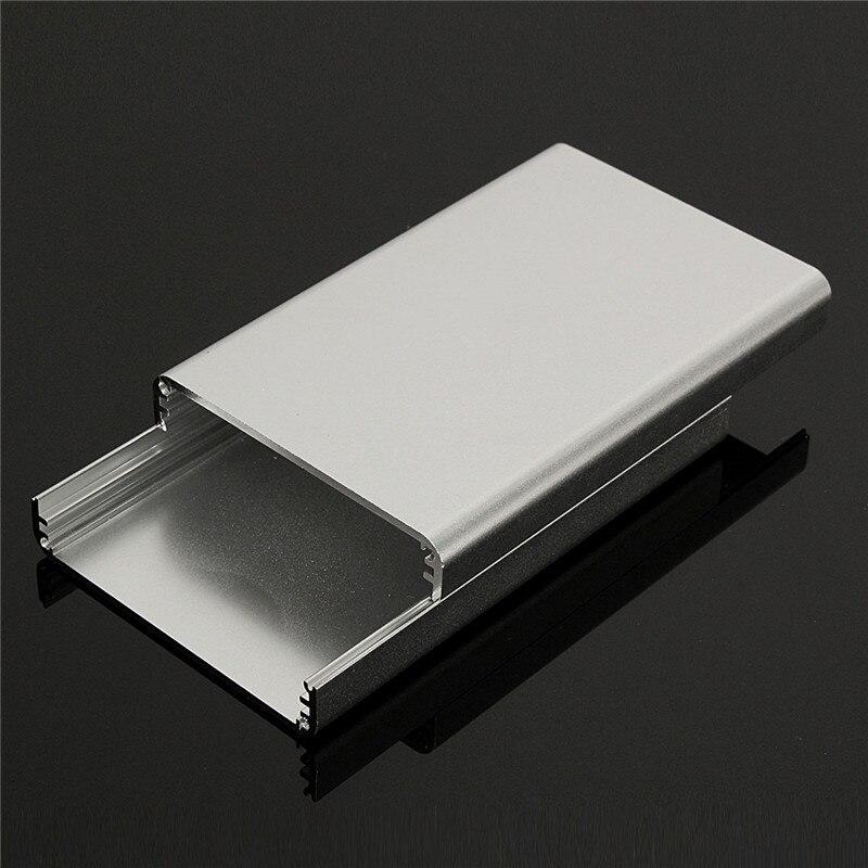 Connecteurs BRICOLAGE tableau de bord En Aluminium Boitier Projet Électronique 26*71*110 MM Argent Connecteurs