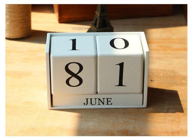 Decorazioni In Legno Per La Casa : Calendario di legno decorazione della casa arredamento ornamenti