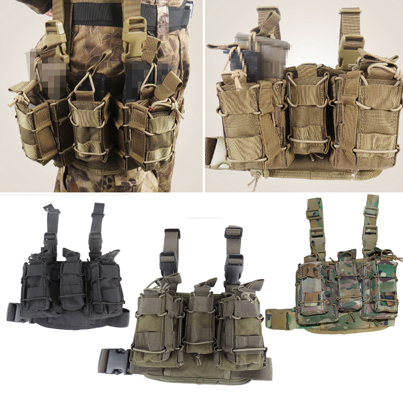 M4/M14/AK Multifunctional Legs Hanging Ammunition Bag Military Army Tactical Gear MOLLE 1000D Wear-Resistant Airsoft Hunting Bag airsoftpeak military tactical waist hunting bags 1000d outdoor multifunctional edc molle bag durable belt pouch magazine pocket