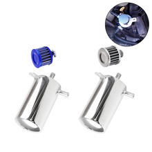 Oil Breather Reservoir Tank Oli Catch Can Aluminum alloy Fit For Universal Car 0 5l universal aluminum racing car oil catch radiator breather tank kit reservoir can silver