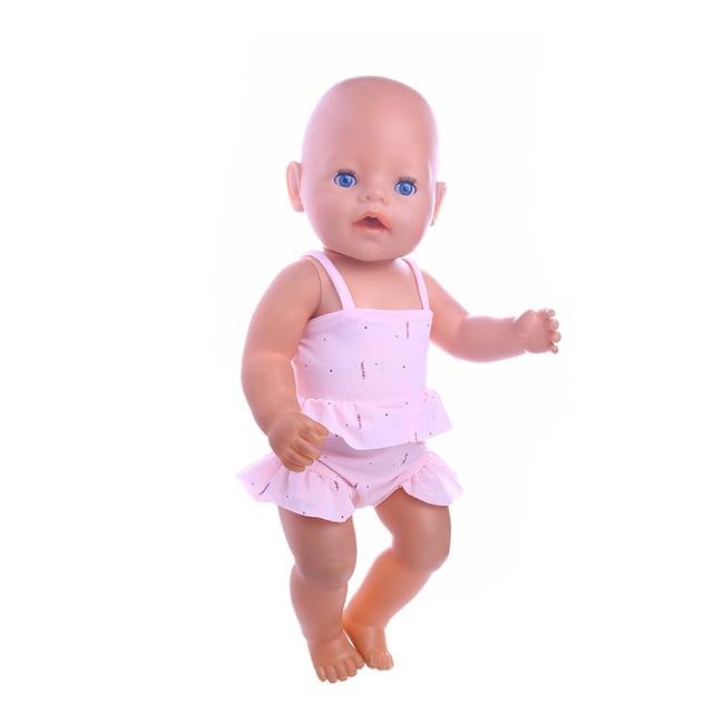 1196be699dc0f7 2017 Nieuwe Baby badpak Geboren Pop Fit 43 cm Baby Born Zapf Pop  Accessoires Handgemaakte Gift
