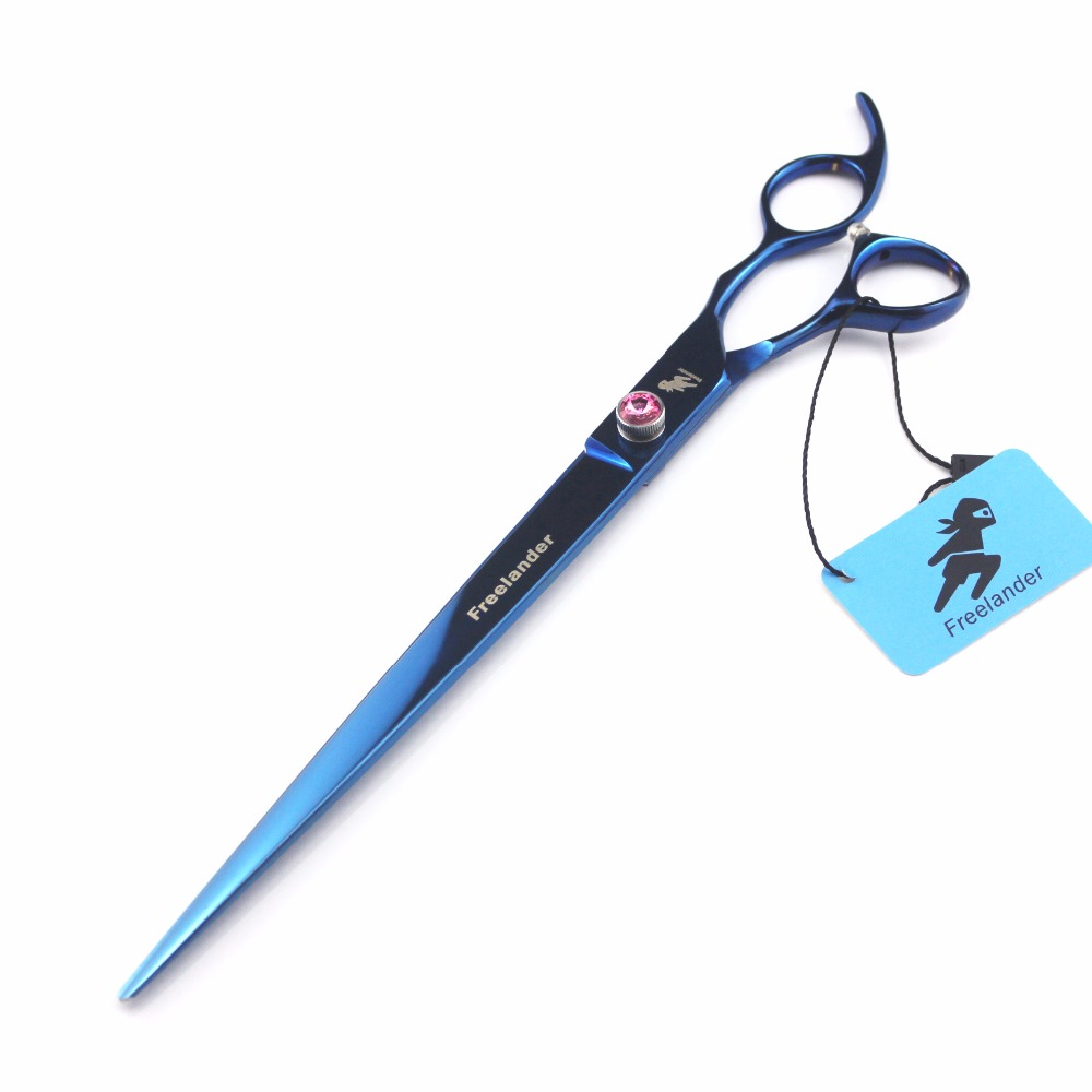 Freelander 10 Japan 440C blue pet scissors  for pet grooming scissorsFreelander 10 Japan 440C blue pet scissors  for pet grooming scissors