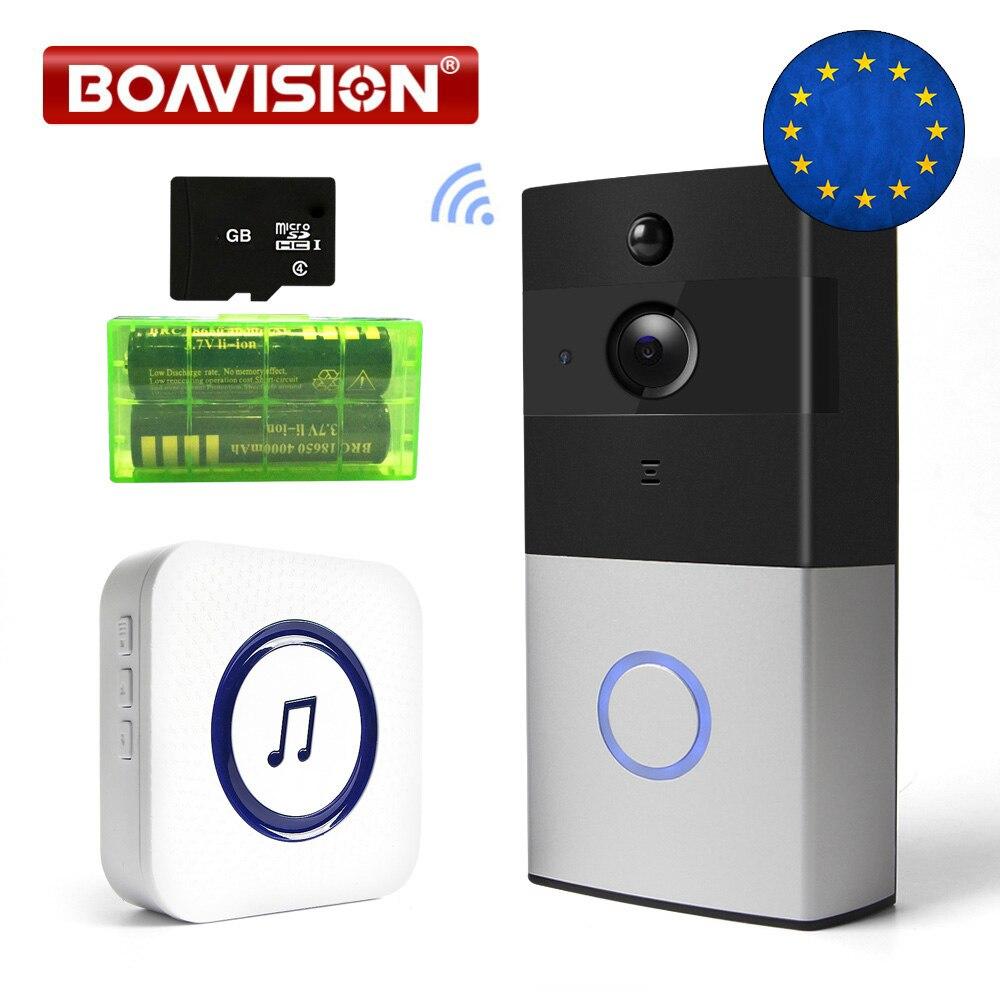 1.0mp Video Wifi Türklingel 850nm Ir 5 M Drahtlose Tür Glocke Wi-fi 720 P Aufnahme Mit Sd Card Slot Innen Verwenden Ios Android App Tosee