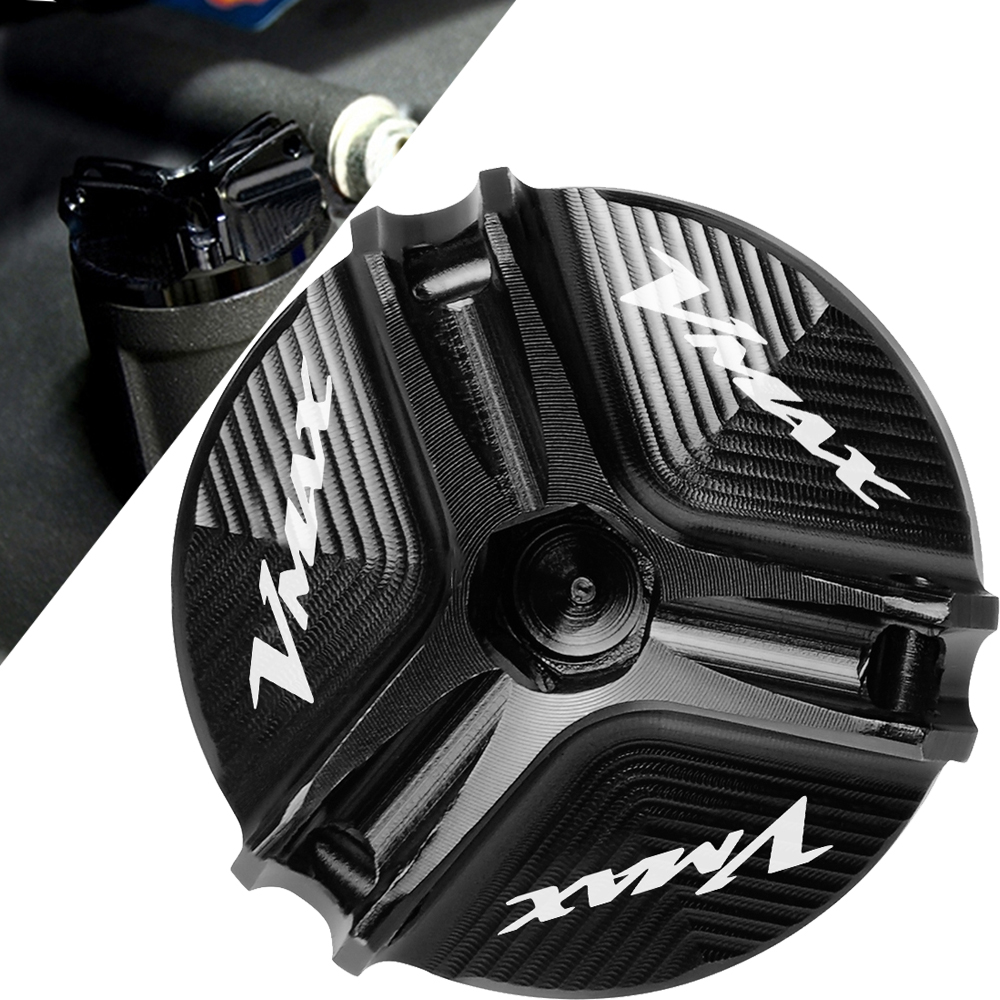New Motorbike CNC Aluminum Motorcycle Engine Oil Cup Oil Fill Cap Cover For YAMAHA VMAX 1200 VMAX1200 VMAX-1200