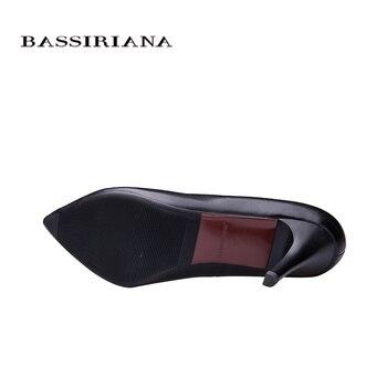 BASSIRIANA 2016 New High-heeled Shoes Woman Pumps Wedding Shoes Fashion Sexy Women Shoes Classic  Black High Heels 8