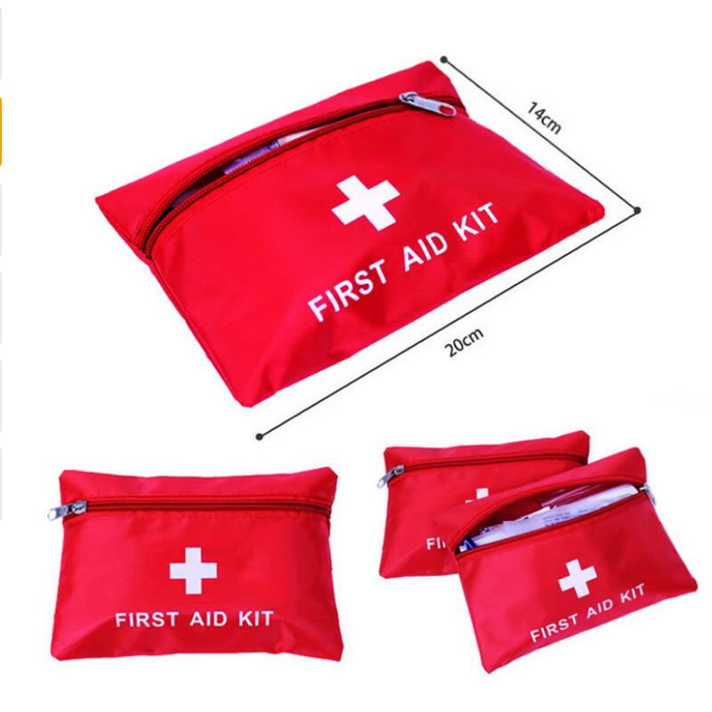 1.4L Portable Emergency First Aid Kit Pouch Bag Travel Sport Rescue Medical Treatment Outdoor Hunting Camping First Aid Kit Hot red 2l portable outdoor waterproof first aid bag medical life saving bag camping travel disaster relief first aid kit