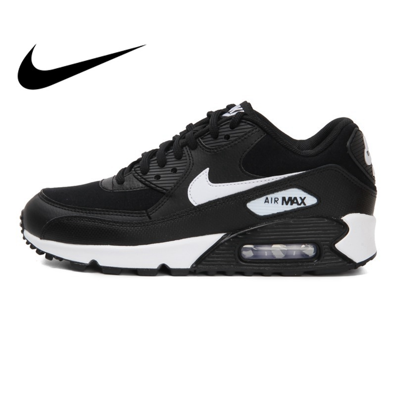 Original 2018 NIKE WMNS AIR MAX 90 chaussures de course pour femmes baskets respirant amorti Nike chaussures femmes en plein AIR marche 325213
