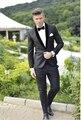 2016 dos piezas por encargo de la nueva llegada por encargo del novio esmoquin ajuste Fit hombre gris trajes un botón de la boda padrinos de Suites