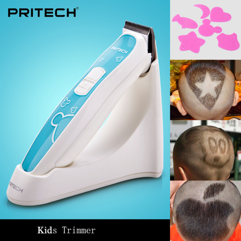 Professional Baby Hair Clipper Electric Rechargeable Hair Trimmer for Kids & Children PRITECH Cutting Machine Beard Trimmer цена