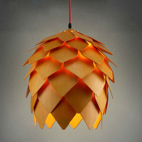 European Pastoral Pine Cone Pendant Lights Fixture Nordic Pinecone Droplight Home Indoor Dining Room Restaurant Foyer Hang Lamp
