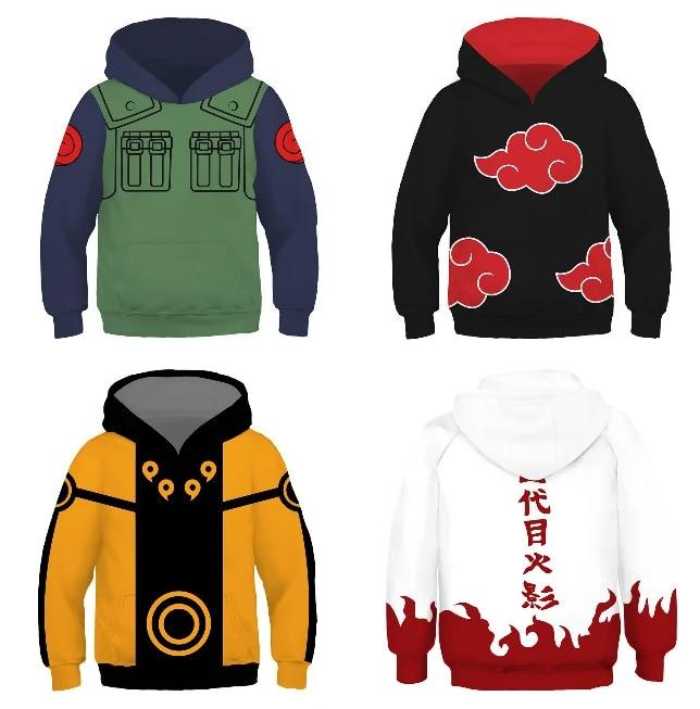 Bargburm Childrens Uzumaki Naruto Shippuden Kakashi Pullover Hoodie Pocket Sweatshirt for Boys//Girls//Teen//Kids Gifts
