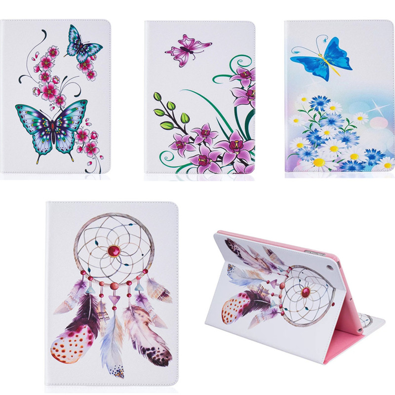 BF PU Leather Flip Case For Apple iPad Air 1 Flower Butterfly Case Book Stand Cover Cases for Apple IPad Air1 Tablet PC Cases flip left and right stand pu leather case cover for blu vivo air