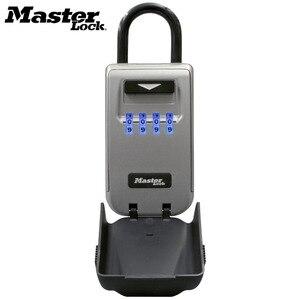 Image 2 - Master Lock Outdoor Key Safe Box Keys Storage Box Padlock Use Light Up Dials Password Lock Keys Hook Security Organizer Boxes