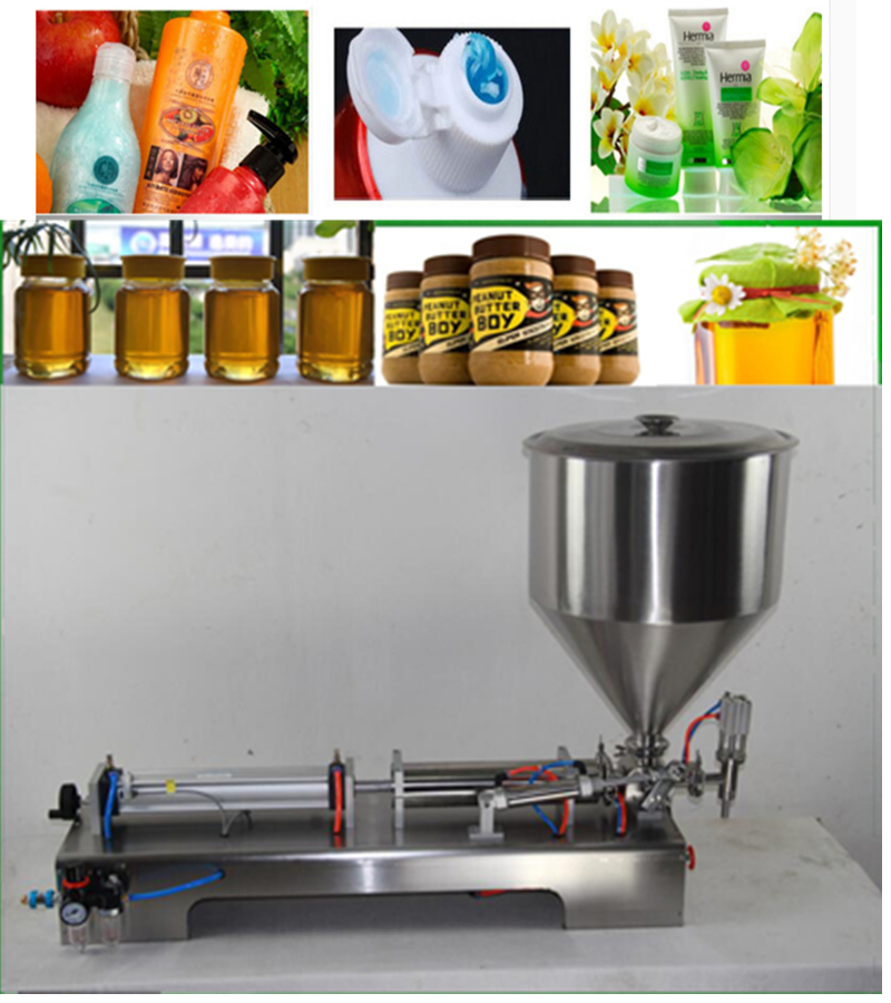 Semi-automatic Filler Horizontal Single Head Food Processor Industrial Packer Filler Paste Filling Machine 100-1000ML wavelets processor