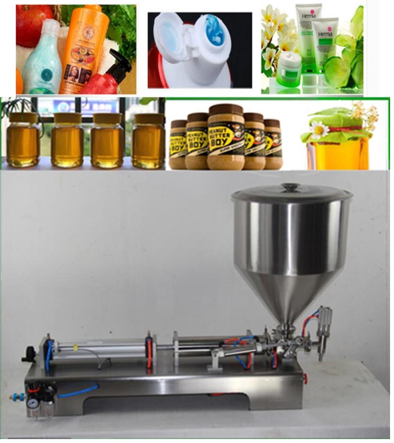 Semi automatic Filler Horizontal Single Head Food Processor Industrial Packer Filler Paste Filling Machine 100 1000ML