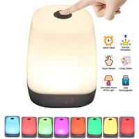 Kaigelin Rechargeable Smart LED Touch Control Night Light Induction Dimmer Intelligent Bedside Lamp Dimmable 7 Color Change