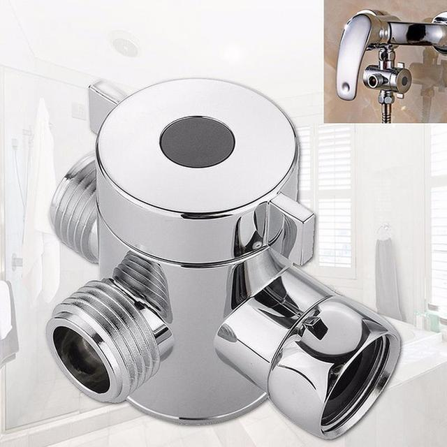 G1/2Inch Luxury Silver Three Way Adjustable Shower arm Mounted ...