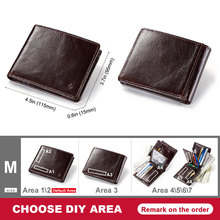 Smart Wallet for Men Genuine Leather with Anti Lost Intelligent Bluetooth