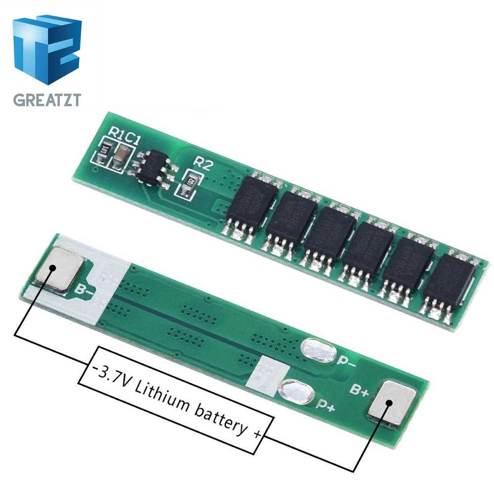 GREATZT 1S 15A 3.7V Li-ion 6MOS BMS PCM Battery Protection Board PCM for 18650 Lithium Lion Battery