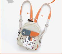 Anime Natsume Yuujinchou Canvas Mini Backpack Multifunctional Daypack Travel Messenger Chest Bag Unisex Rucksack schoolbag anime natsume yuujinchou cosplay 2017 new animation canvas bag casual backpack korean fashion students