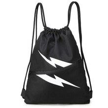 School Bag lightning Drawstring Backpack For Teenage Women Men Waterproof Drawstring Bag Packing Cubes Large Capacity Mochila