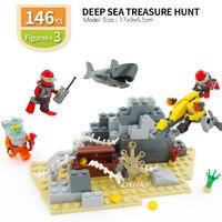 教育組み立て極性探検深海宝ハント互換ビルディング · ブロックレンガのおもちゃ子供のギフト