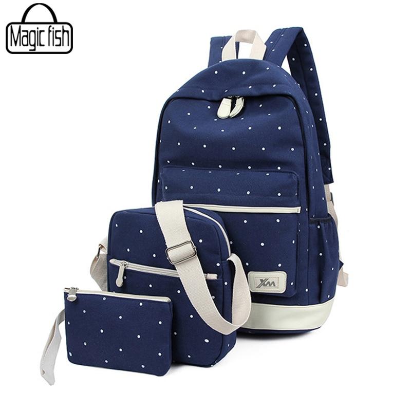 2018 Fashion Women Backpacks New Good Quality School Backpacks For Teenage Girls Travel Backpacks Casual Canvas Backpacks A253/l