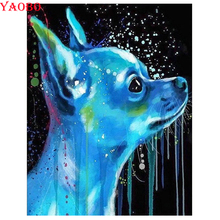 New 5d diy diamond Painting Chihuahua dog pet picture mosaic rhinestone embroidery full square/round drill cross-stitch