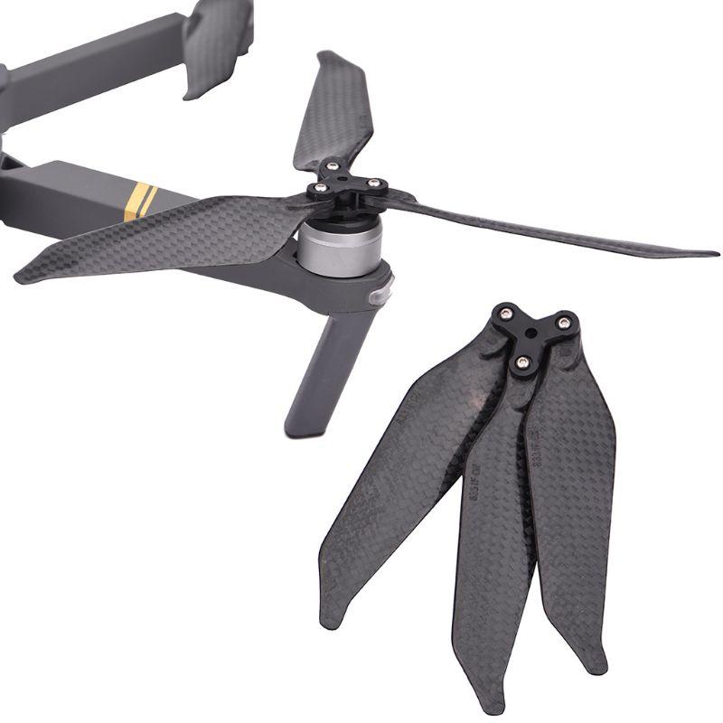 1 par hélices hojas alas tranquilo volando bien equilibrado de accesorios para Gopro Karma Drone