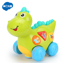 HOLA 6105 Talking Dinosaur Toy with Lights and Sounds for Kids - Fun Action, Learning Toys Boys Girls