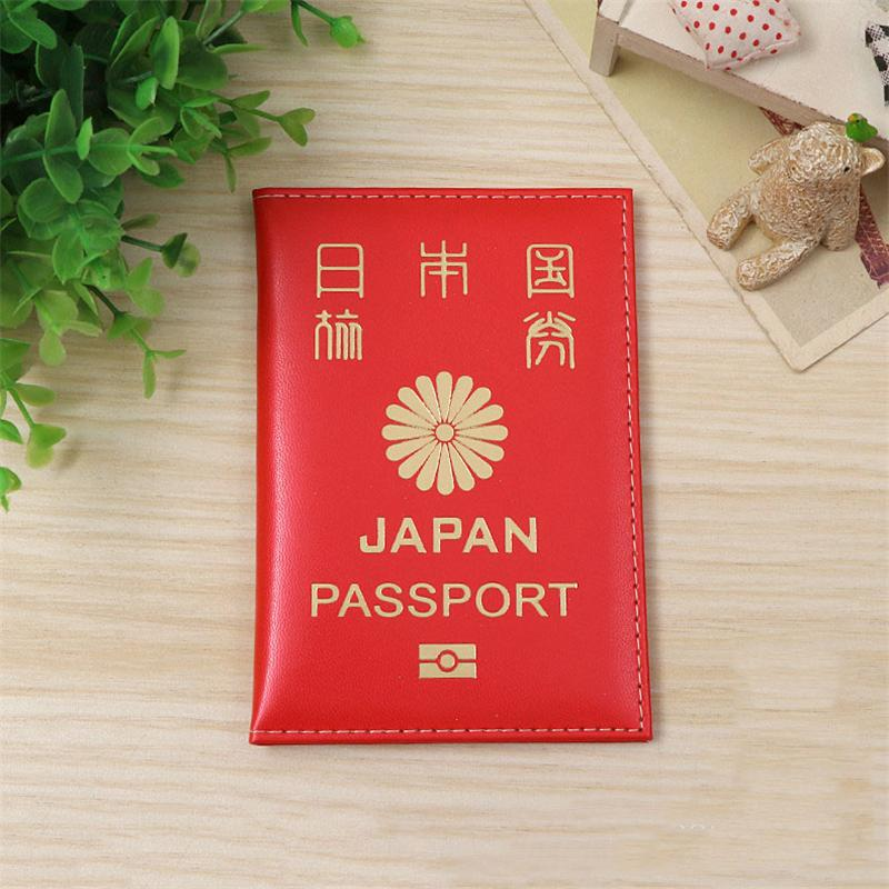 Hot Soft Leather Japan Passport Cover Women Passport Case Japanese Passport Holder Girls Passport Holder Case