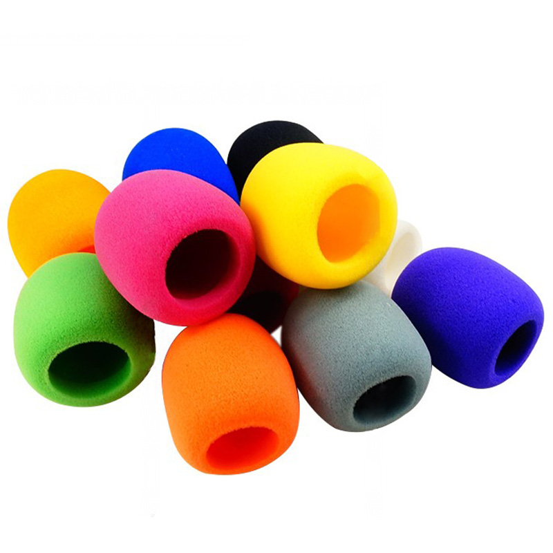 "High Quality 10Pcs Multi Color Handheld Stage Ball Shape Microphone Windscreen Foam Mic Cover Karaoke DJ 2.8""x2.3"""